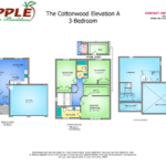 The Cottonwood Elevation A 3-BEDROOM