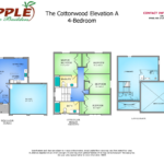 The Cottonwood Elevation A 4-BEDROOM